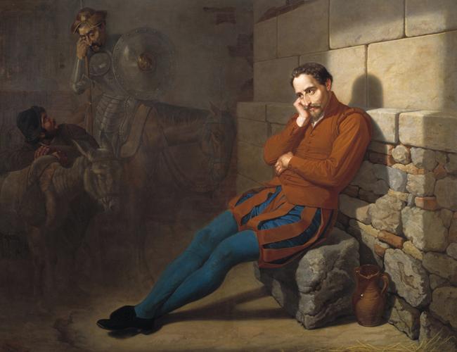 «Мигелю де Сервантесу грезится Дон Кихот». Мариано де ла Рока. 1858. Музей Прадо