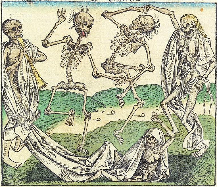 «Пляска Смерти» / © CC0 / Public Domain, Michel Wolgemut, Wilhelm Pleydenwurff
