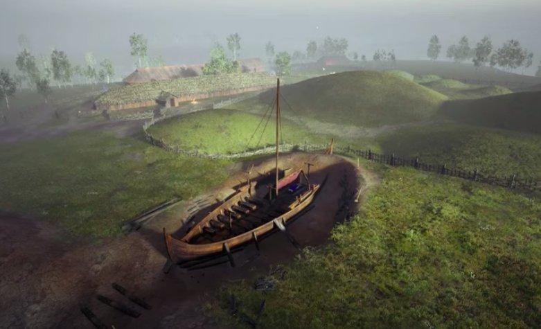 Власти Норвегии разрешили выкопать древний погребальный корабль викингов                                                Ekraani kuvatõmmis Youtube/ Gjellestad