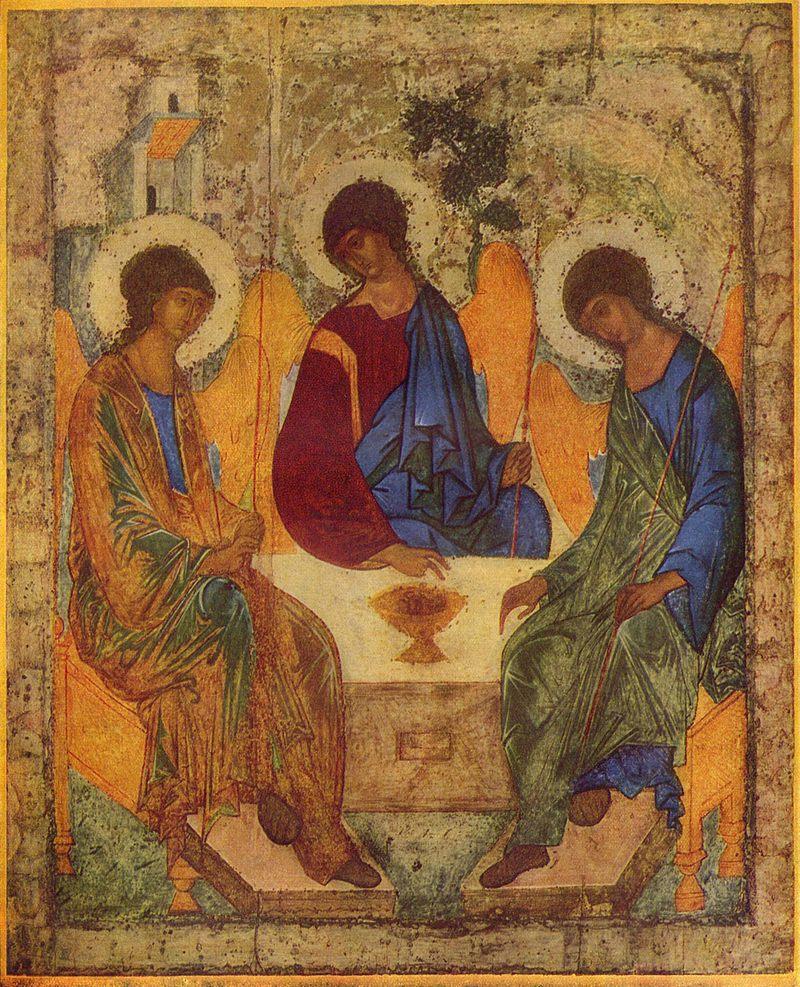 Троица (икона Андрея Рублёва, начало XV века)
