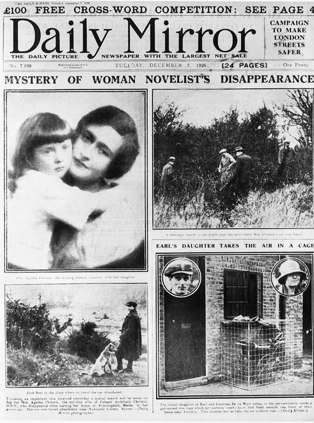 Agatha Christie's disappearance in 1903 made headlines on both sides of the Atlantic