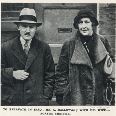 Agatha Christie and second husband Max Mallowan