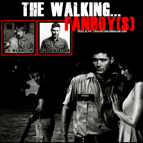 The Walking Fanboy - poster-blackandwhite.jpg