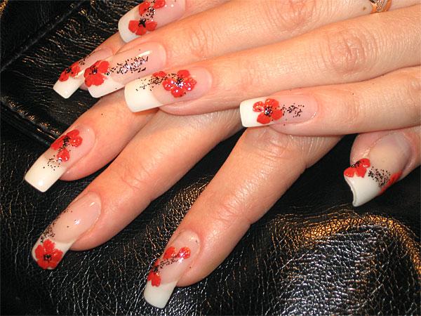 Мака на ногтях очень красивый маникюр