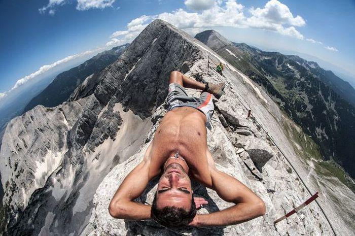 голые фото в горах