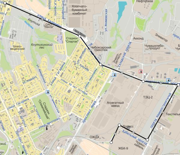 Карта с портала Cheboksary.ws