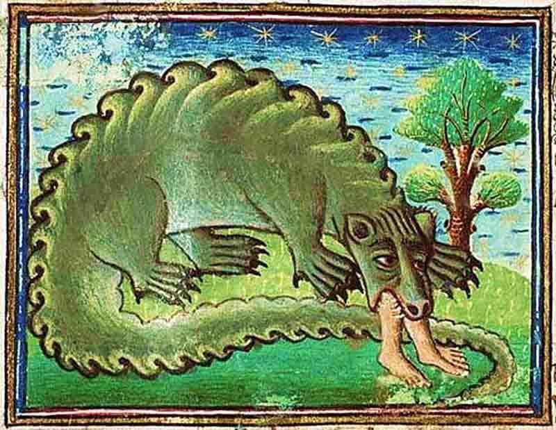 дракон пожирающий человека
