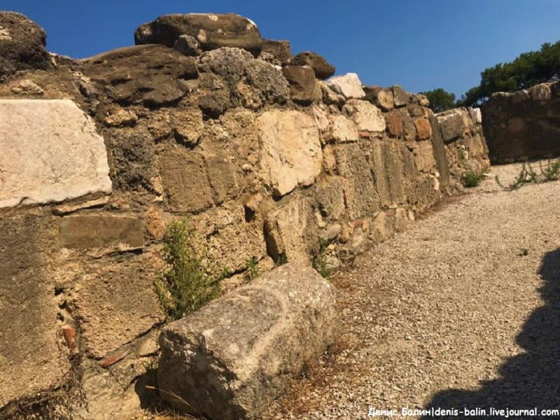 Остров Родос: Руины античного города Камироса (Камира)