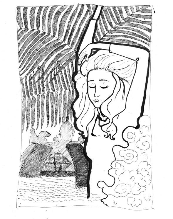 """Иллюстрация к моему стихотворению """"Хорошо жить у моря..."""""""