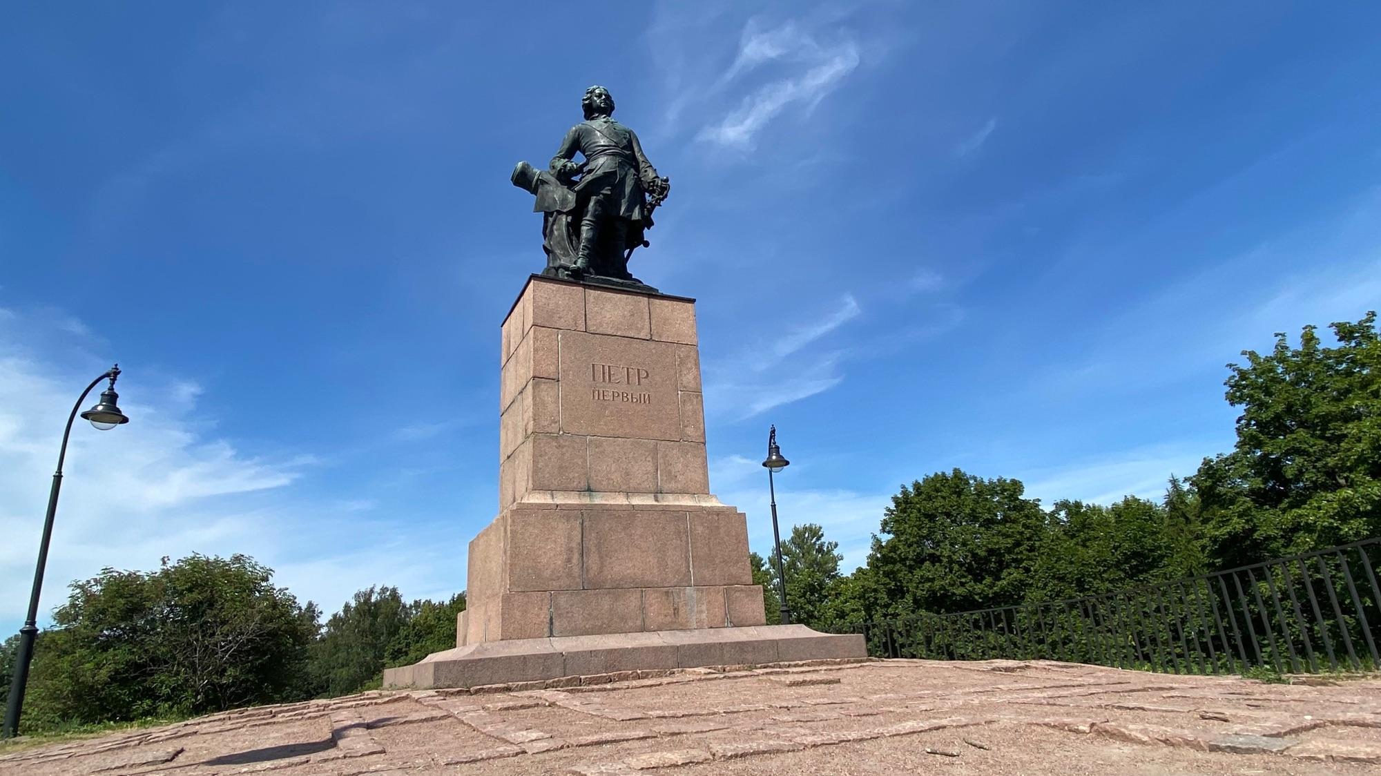 Памятник Петру Первому в городе Выборг