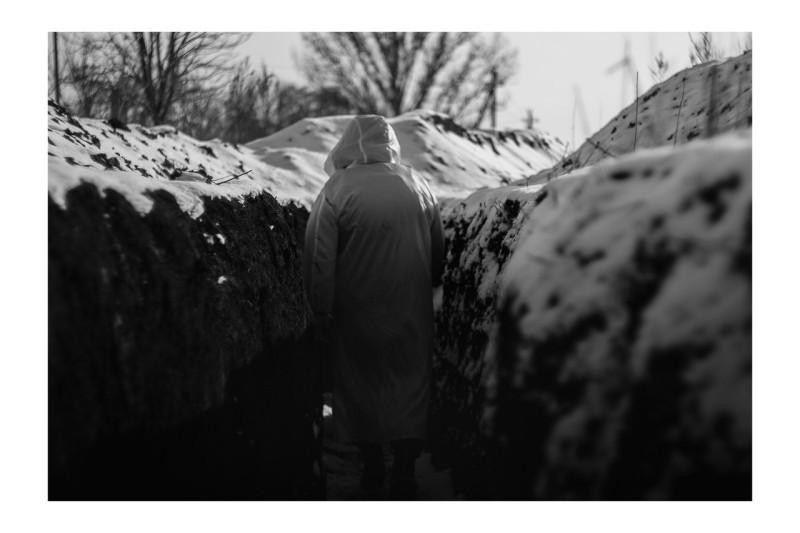 В окопах в районе посёлка Ясное. Донбасс, декабрь 2017