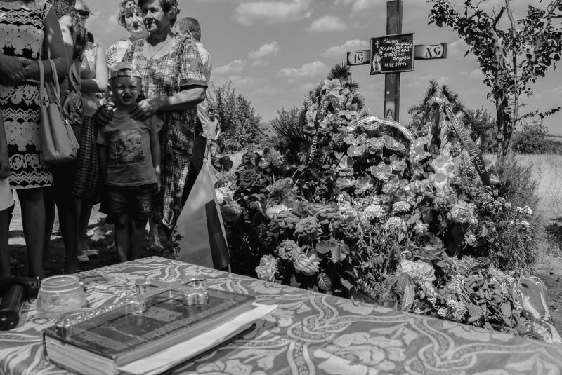 Место гибели Андрея Стенина, Сергея Коренченкова и Андрея Вячало. 6 августа 2015