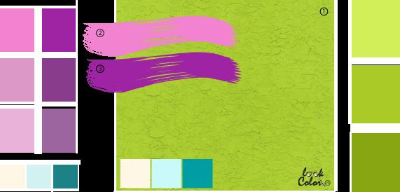 С каким цветом сочетается салатовый фото