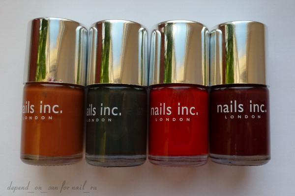 Nails Inc Autumn Winter Colour Collection 2011.