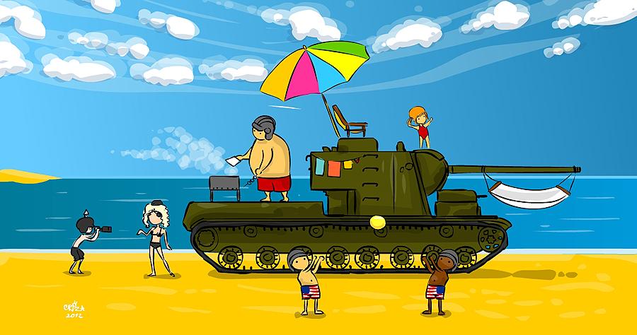 Днем, картинки прикольные танки
