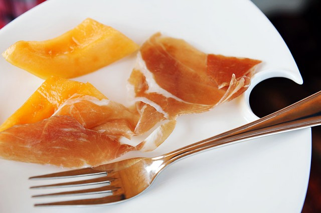 Parma Ham with Melon, a nice starter to serve the guests
