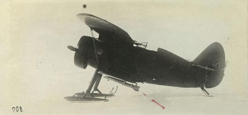 И-15 с 8 ракетными снарядами. Проходил войсковые испытания в 1937 году.