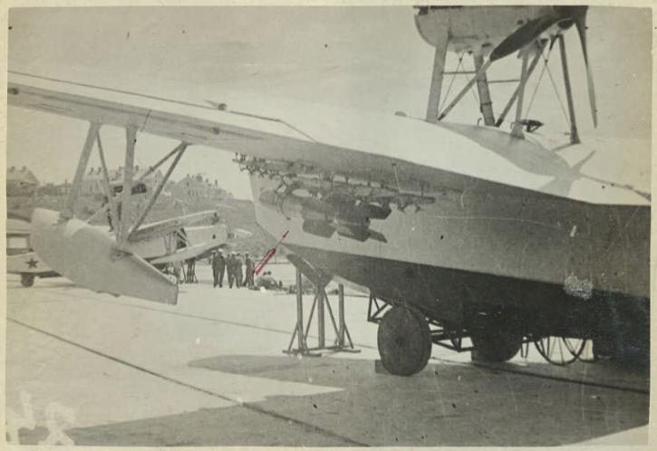 МБР-2 с ракетными авиационными бетонобойными и бронебойными бомбами