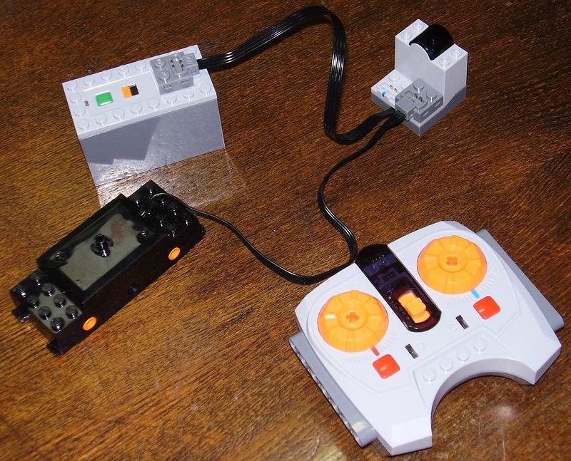 Батарейки, мотор, ИК-приёмник и пульт
