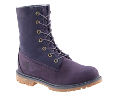 Authentics Teddy Fleece Fold Down Boot Purple 2