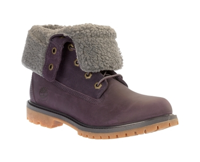 Authentics Teddy Fleece Fold Down Boot Purple