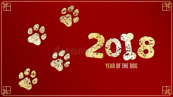 year-earth-dog-golden-traces-grunge-style-red-background-pattern-chinese-new-year-vector-illustrat-yellow-93180878