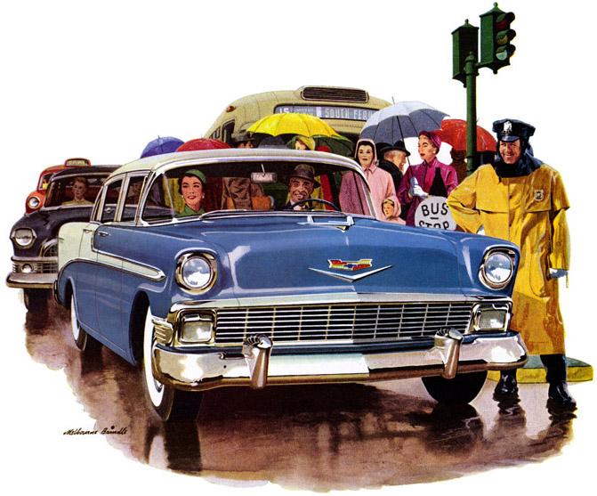 1956 Chevrolet   Artist Ewart Melbourne Brindle (1904-1995)