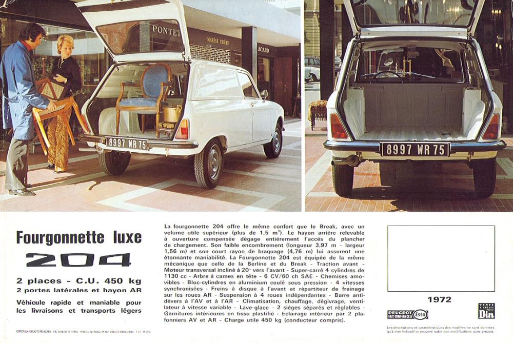 Peugeot 204 Fourgonnette 72 2