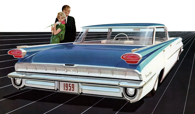 Oldsmobile for 1959 -- There's new figure and form, with a n