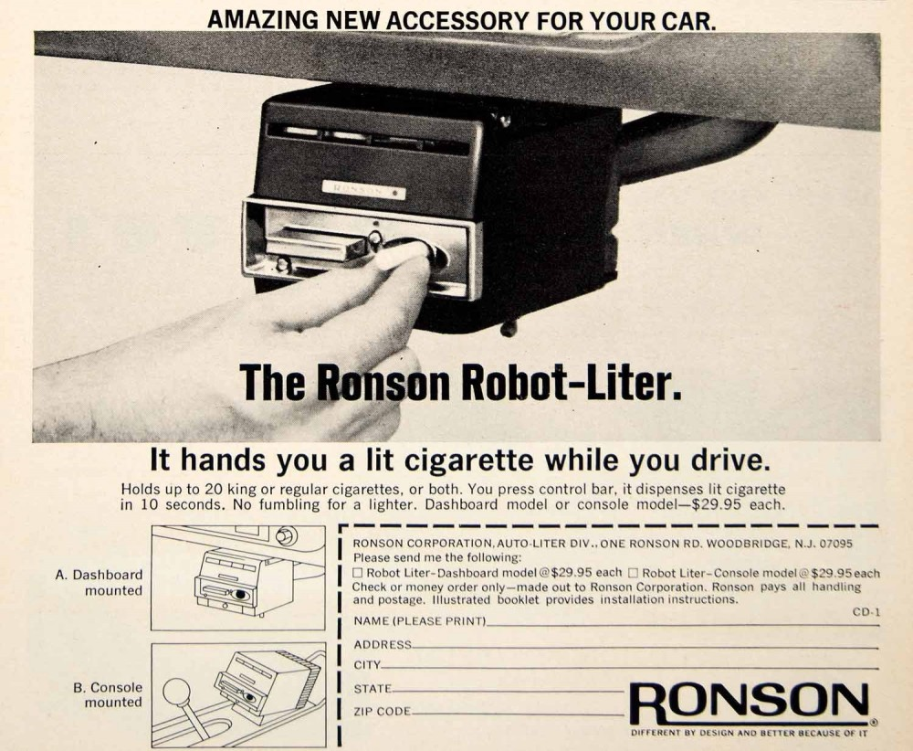1968-ad-ronson-robot-liter-cigarette-lighter-auto-accessory-