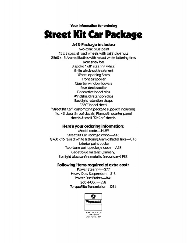 1978 Plymouth Volare Street Kit Poster-02