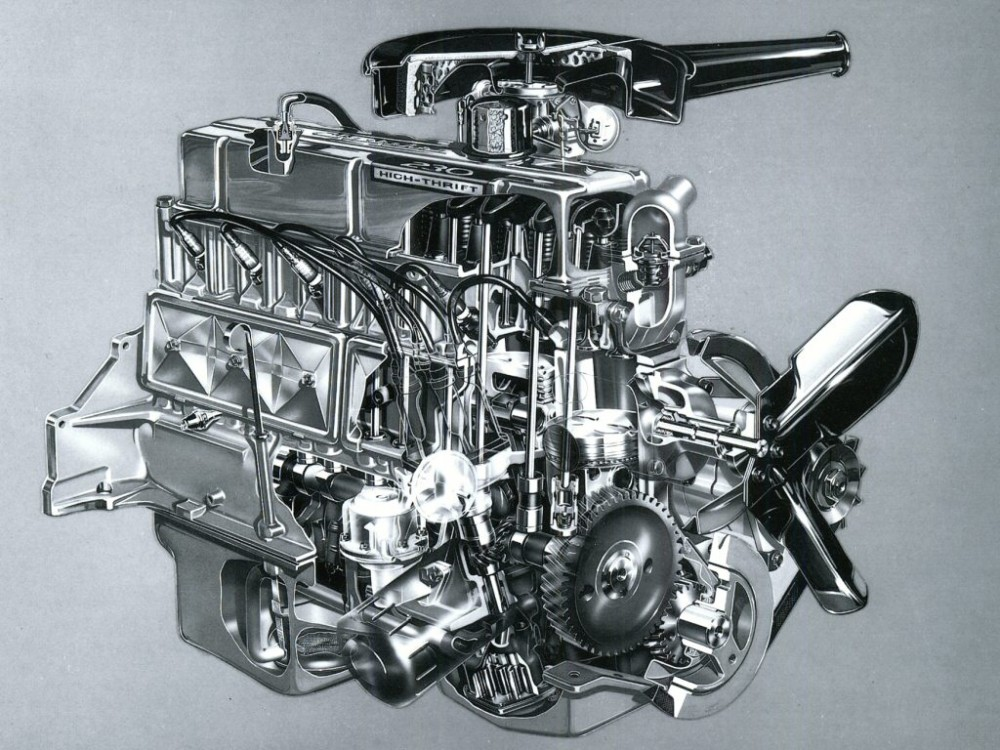 1965 Chevrolet 230 CID 155HP High-Thrift Six Cylinder Engine