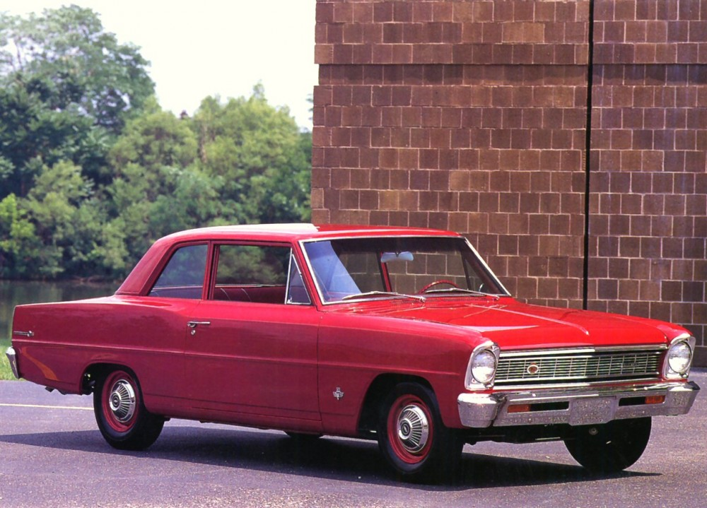 1966 Chevrolet Chevy II L-79 327 2-Door Sedan Red Rt Frt Qtr