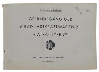 Tatra-Type-92-Ersatzteilliste