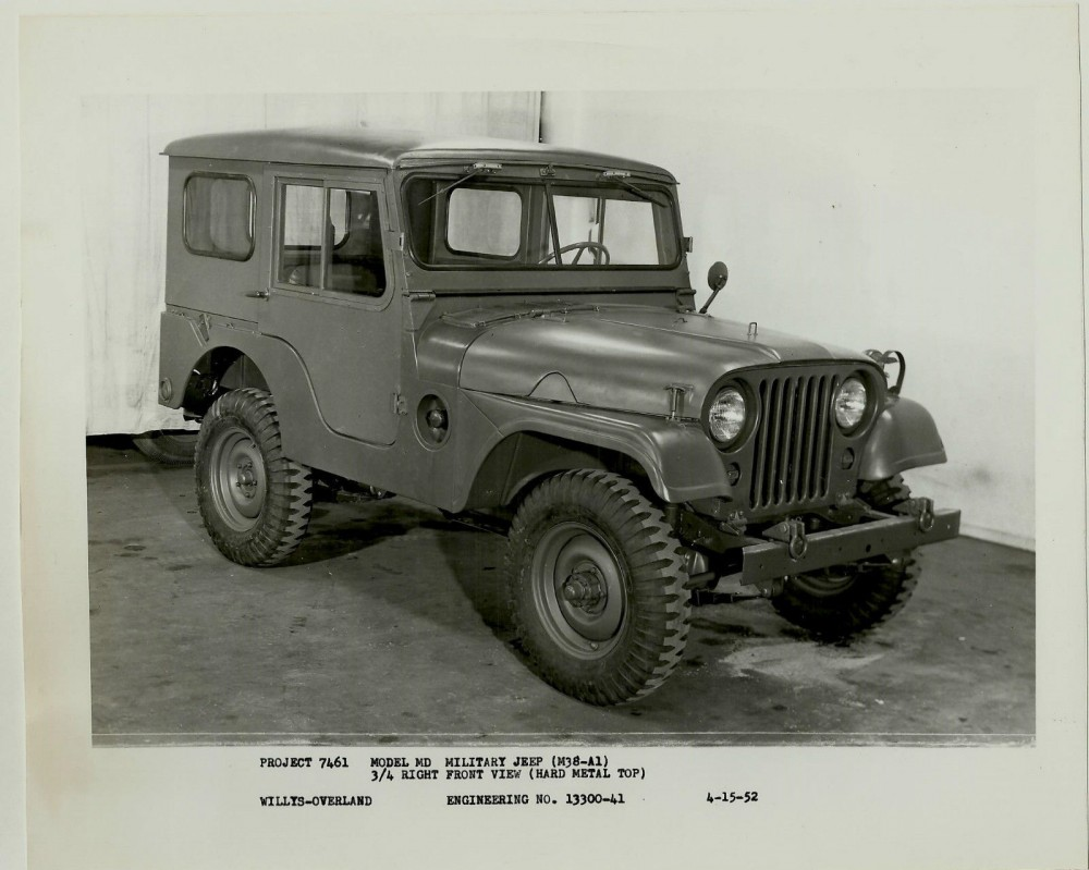 VTG 1952 Willys Overland Photo Project 7461 M38-A1 Jeep