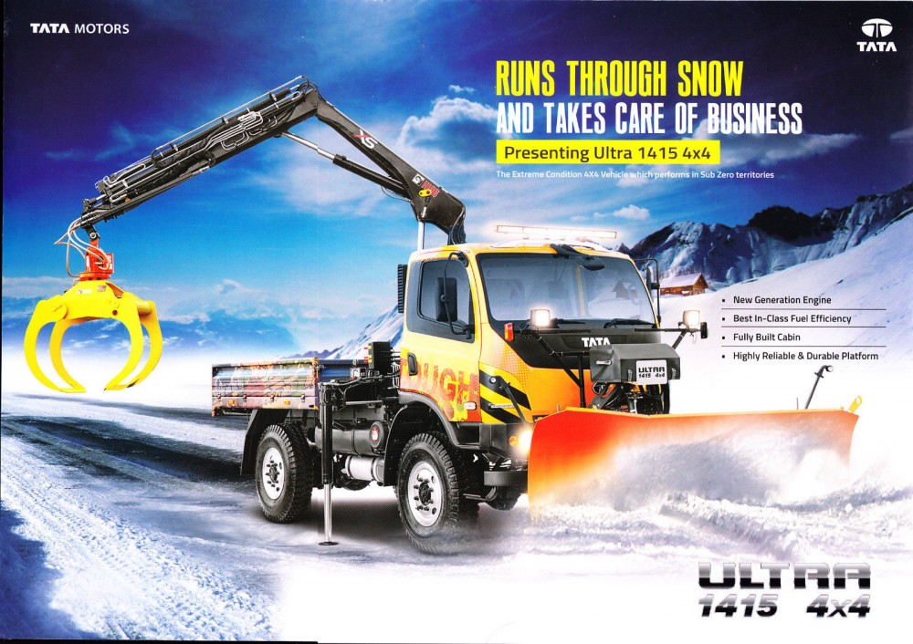 Tata Ultra 1415 4x4 Truck Brochure, India