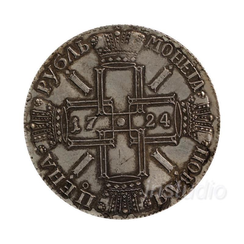 Монета рубль Петро Первый