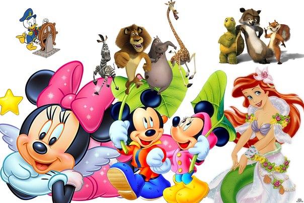 детские игры с персонажами любимых мультиков