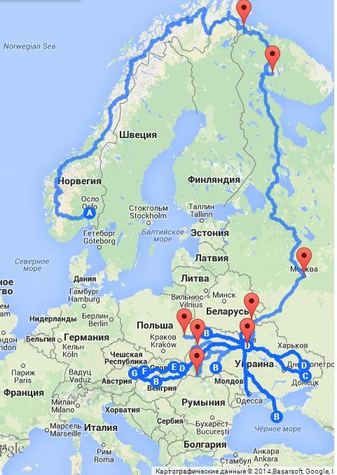карта 2014