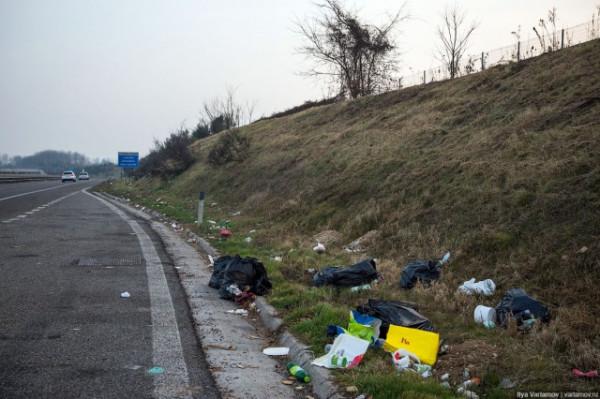 Италия трасса Милан Турин срачь
