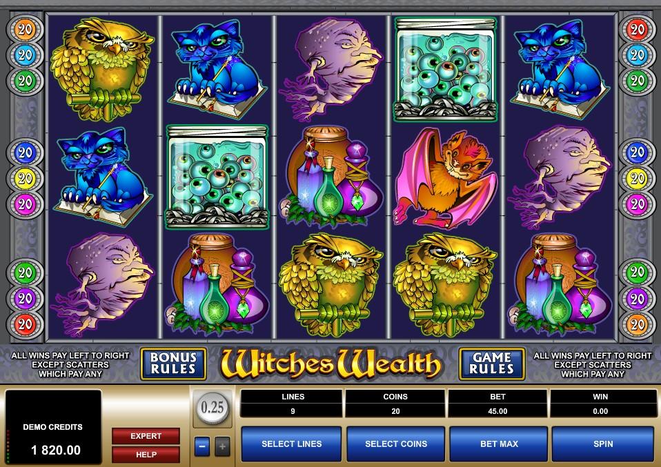 игровой автомат witches wealth