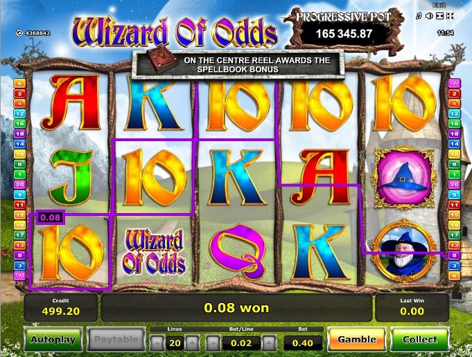 игровой автомат wizard of odds