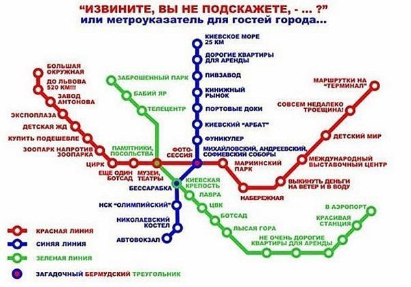 на верном пути - карта метро