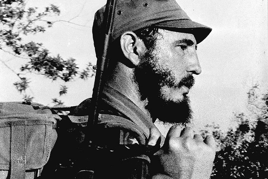 Фидель Кастро в горах Сьерра-Маэстра. 1959 г.