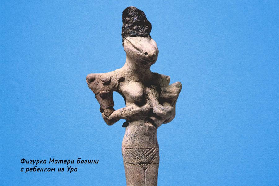 Фигурка Матери Богини с ребенком из Ура