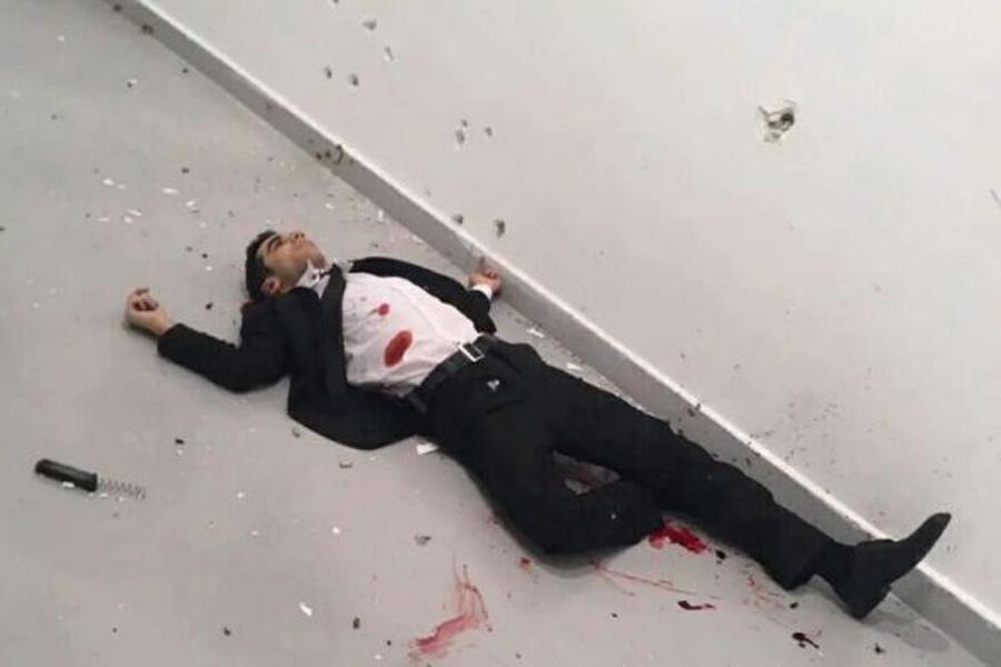 Убит нападавший на посла России в Турции