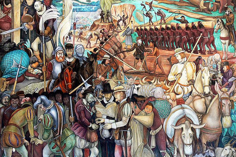 Эксплуатация Мексики испанскими завоевателями