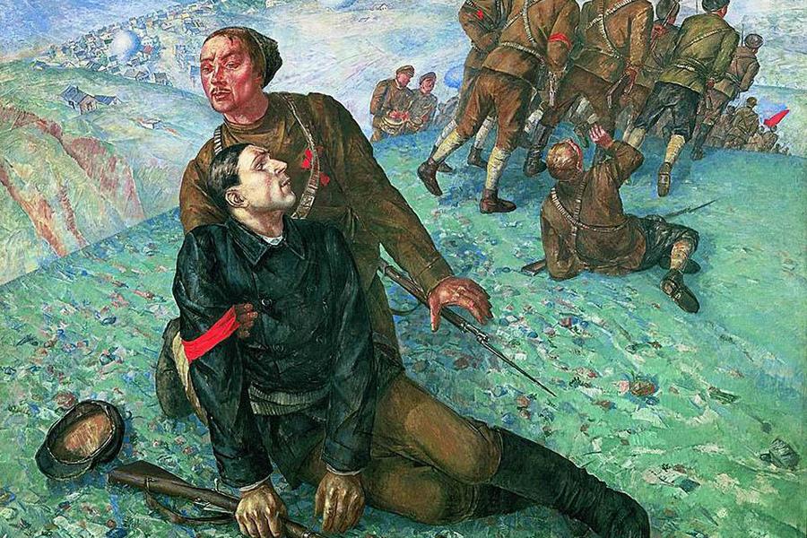 Петров-Водкин Смерть комиссара, 1928