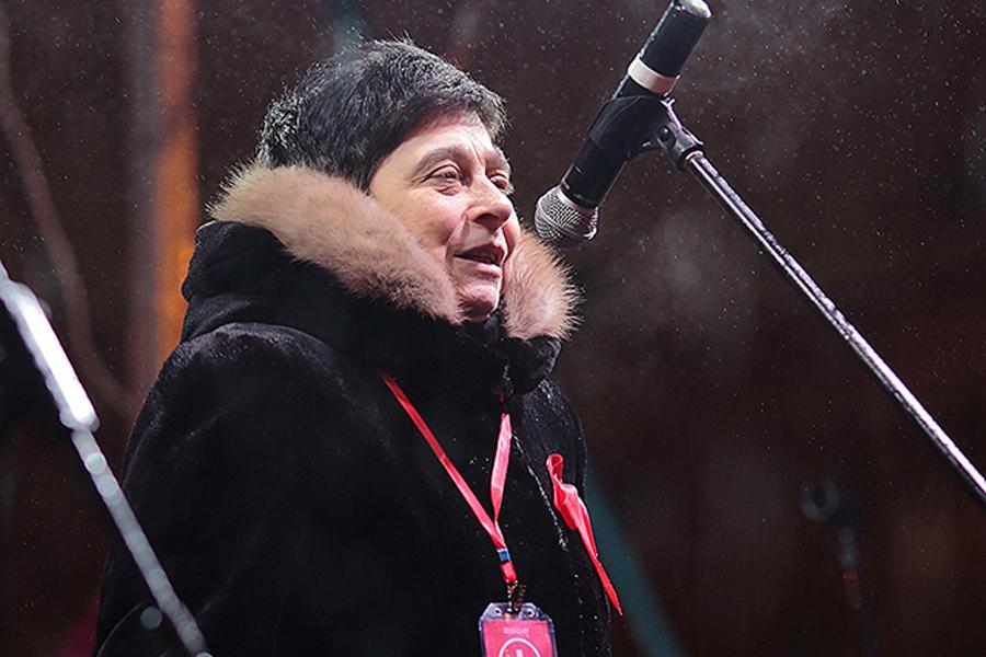 Мария Мамиконян на митинге 7 ноября
