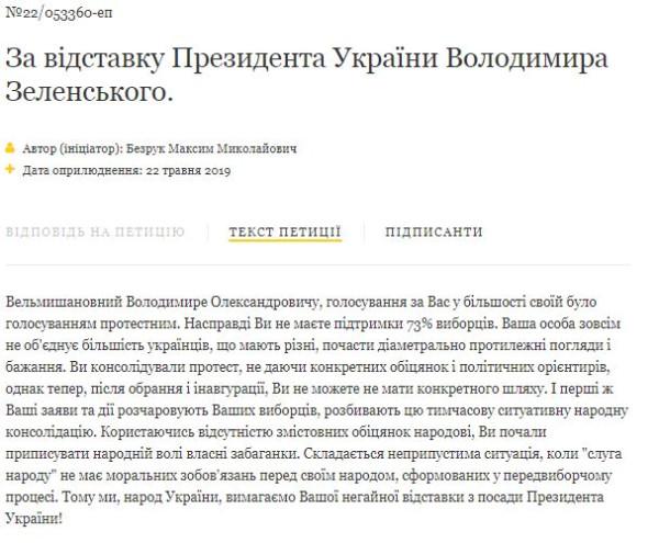 Процедура импичмент Зеленского уже началась: петиция за сутки набрала все необходимые голоса